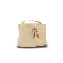Load image into Gallery viewer, Makeup Case - Tan Coated Canvas Front Angle in Color 'Tan Coated Canvas'