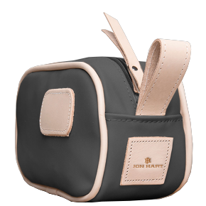 Junior Shave Kit - Charcoal Coated Canvas Front Angle in Color 'Charcoal Coated Canvas'