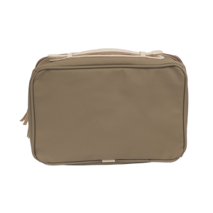 Large Travel Kit - Saddle Coated Canvas Front Angle in Color 'Saddle Coated Canvas'