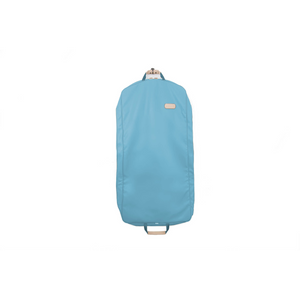 "50"" Garment Bag - Ocean Blue Coated Canvas Front Angle in Color 'Ocean Blue Coated Canvas'"