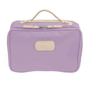 Large Travel Kit - Lilac Coated Canvas Front Angle in Color 'Lilac Coated Canvas'