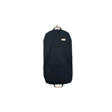 "Load image into Gallery viewer, 50"" Garment Bag - Navy Coated Canvas Front Angle in Color 'Navy Coated Canvas'"