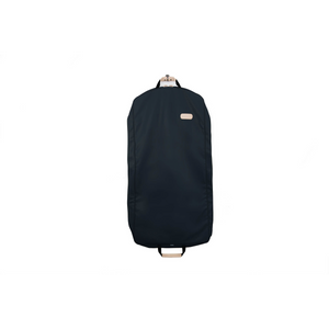 "50"" Garment Bag - Navy Coated Canvas Front Angle in Color 'Navy Coated Canvas'"