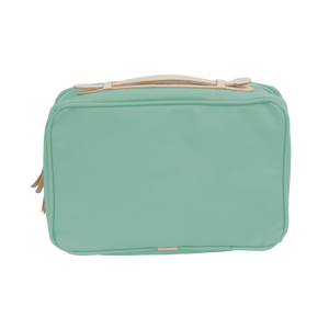 Large Travel Kit - Mint Coated Canvas Front Angle in Color 'Mint Coated Canvas'
