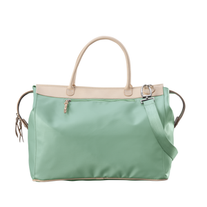 Burleson Bag - Mint Coated Canvas Front Angle in Color 'Mint Coated Canvas'
