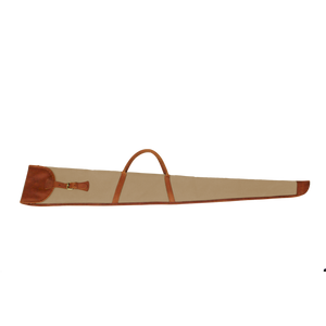 Shotgun Cover - Tan Coated Canvas Front Angle in Color 'Tan Coated Canvas'