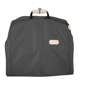 "50"" Garment Bag - Charcoal Coated Canvas Front Angle in Color 'Charcoal Coated Canvas'"