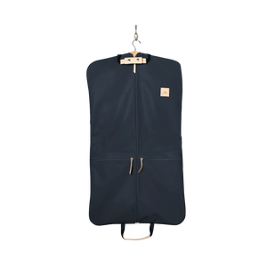 Two-Suiter - Navy Coated Canvas Front Angle in Color 'Navy Coated Canvas'