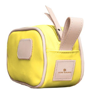 Junior Shave Kit - Lemon Coated Canvas Front Angle in Color 'Lemon Coated Canvas'