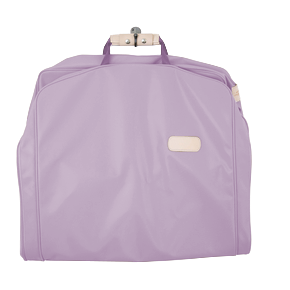 "50"" Garment Bag - Lilac Coated Canvas Front Angle in Color 'Lilac Coated Canvas'"