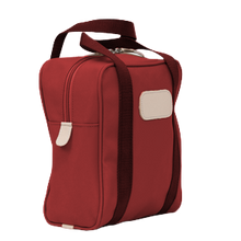 Load image into Gallery viewer, Shag Bag - Red Coated Canvas Front Angle in Color 'Red Coated Canvas'