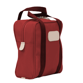 Shag Bag - Red Coated Canvas Front Angle in Color 'Red Coated Canvas'