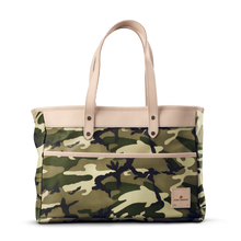 Load image into Gallery viewer, Bebita - Classic Camo Coated Canvas Front Angle in Color 'Classic Camo Coated Canvas'