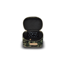 Load image into Gallery viewer, Makeup Case - Classic Camo Coated Canvas Front Angle in Color 'Classic Camo Coated Canvas'