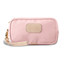 Load image into Gallery viewer, Wristlet - Rose Coated Canvas Front Angle in Color 'Rose Coated Canvas'