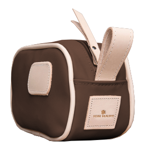 Junior Shave Kit - Espresso Coated Canvas Front Angle in Color 'Espresso Coated Canvas'