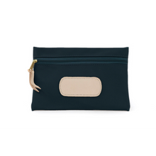 Load image into Gallery viewer, Pouch - Navy Coated Canvas Front Angle in Color 'Navy Coated Canvas'