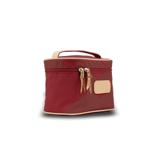 Load image into Gallery viewer, Makeup Case - Red Coated Canvas Front Angle in Color 'Red Coated Canvas'