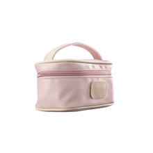 Load image into Gallery viewer, Mini Makeup Case - Rose Coated Canvas Front Angle in Color 'Rose Coated Canvas'