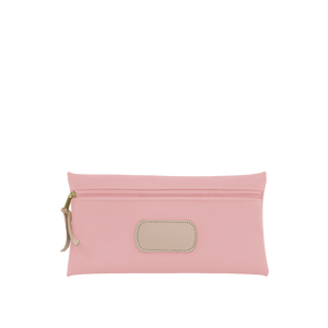 Large Pouch Front Angle in Color 'Rose Coated Canvas'