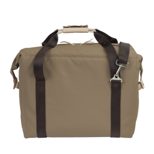 Large Cooler - Saddle Coated Canvas Front Angle in Color 'Saddle Coated Canvas'