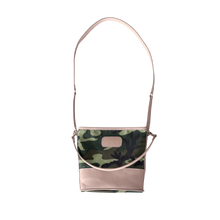Load image into Gallery viewer, Letita - Classic Camo Coated Canvas Front Angle in Color 'Classic Camo Coated Canvas'