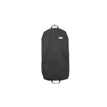 "Load image into Gallery viewer, 50"" Garment Bag - Charcoal Coated Canvas Front Angle in Color 'Charcoal Coated Canvas'"