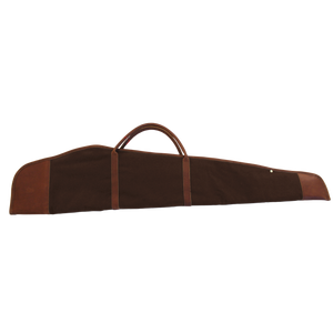 Rifle Cover - Espresso Coated Canvas Front Angle in Color 'Espresso Coated Canvas'