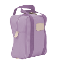 Load image into Gallery viewer, Shag Bag - Lilac Coated Canvas Front Angle in Color 'Lilac Coated Canvas'