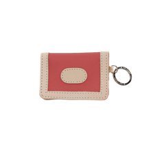 Load image into Gallery viewer, ID Wallet - Coral Coated Canvas Front Angle in Color 'Coral Coated Canvas'