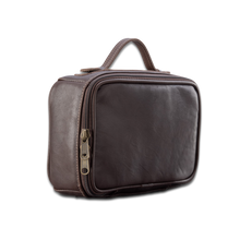 Load image into Gallery viewer, Quality made in America leather toiletry bag kit to personalize with initials or monogram