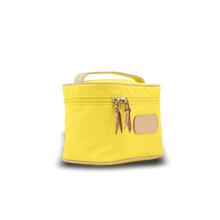 Load image into Gallery viewer, Makeup Case - Lemon Coated Canvas Front Angle in Color 'Lemon Coated Canvas'