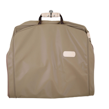 "Load image into Gallery viewer, 50"" Garment Bag - Saddle Coated Canvas Front Angle in Color 'Saddle Coated Canvas'"