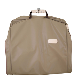 "50"" Garment Bag - Saddle Coated Canvas Front Angle in Color 'Saddle Coated Canvas'"