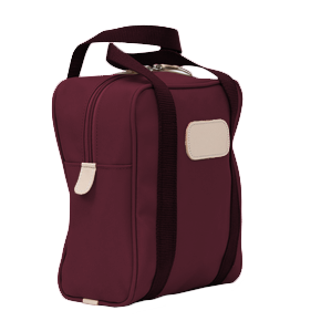 Shag Bag - Burgundy Coated Canvas Front Angle in Color 'Burgundy Coated Canvas'