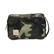 Load image into Gallery viewer, Small Travel Kit - Classic Camo Coated Canvas Front Angle in Color 'Classic Camo Coated Canvas'