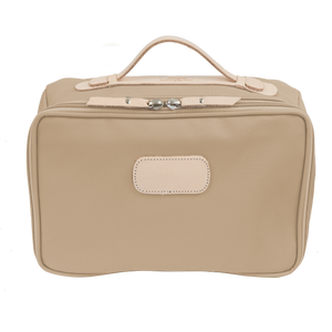 Large Travel Kit - Tan Coated Canvas Front Angle in Color 'Tan Coated Canvas'