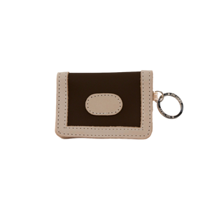 ID Wallet - Espresso Coated Canvas Front Angle in Color 'Espresso Coated Canvas'