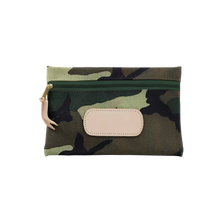 Load image into Gallery viewer, Pouch - Classic Camo Coated Canvas Front Angle in Color 'Classic Camo Coated Canvas'