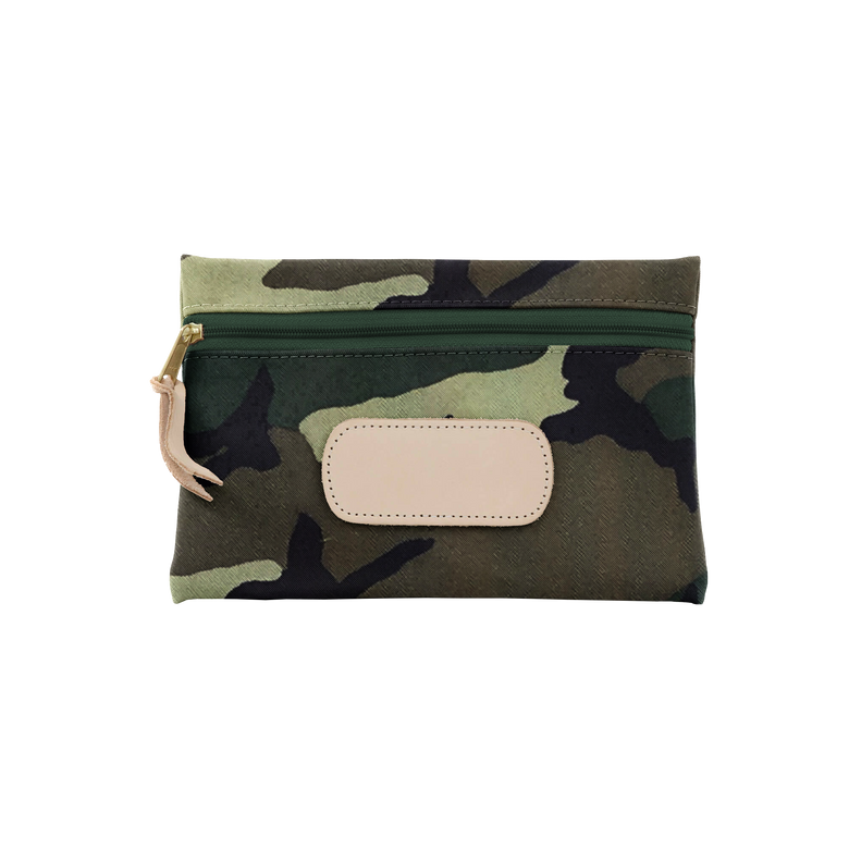 Pouch - Classic Camo Coated Canvas Front Angle in Color 'Classic Camo Coated Canvas'