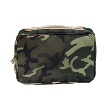 Load image into Gallery viewer, Large Travel Kit - Classic Camo Coated Canvas Front Angle in Color 'Classic Camo Coated Canvas'