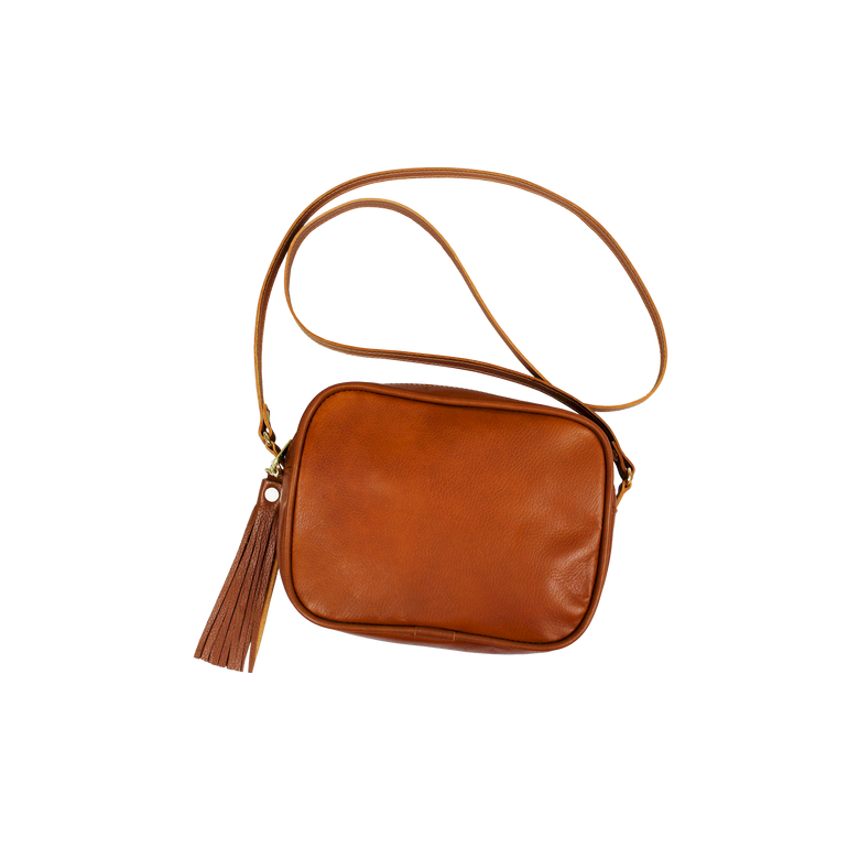Leather Lola - Blonde Leather Front Angle in Color 'Blonde Leather'