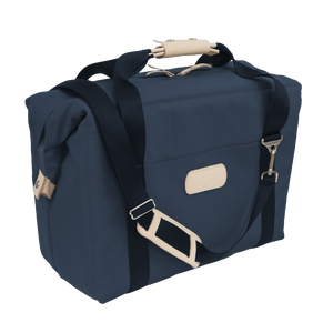 Large Cooler - Navy Coated Canvas Front Angle in Color 'Navy Coated Canvas'