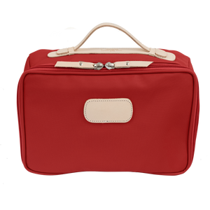 Large Travel Kit - Red Coated Canvas Front Angle in Color 'Red Coated Canvas'