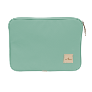"13"" Computer Case - Mint Coated Canvas Front Angle in Color 'Mint Coated Canvas'"
