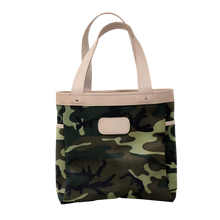 Load image into Gallery viewer, Left Bank - Classic Camo Coated Canvas Front Angle in Color 'Classic Camo Coated Canvas'