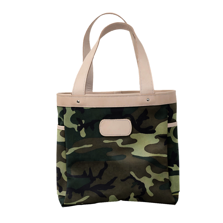 Left Bank - Classic Camo Coated Canvas Front Angle in Color 'Classic Camo Coated Canvas'