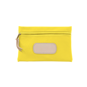 Pouch - Lemon Coated Canvas Front Angle in Color 'Lemon Coated Canvas'