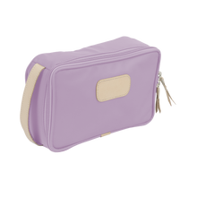 Load image into Gallery viewer, Small Travel Kit - Lilac Coated Canvas Front Angle in Color 'Lilac Coated Canvas'