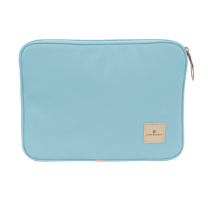 "13"" Computer Case - Ocean Blue Coated Canvas Front Angle in Color 'Ocean Blue Coated Canvas'"